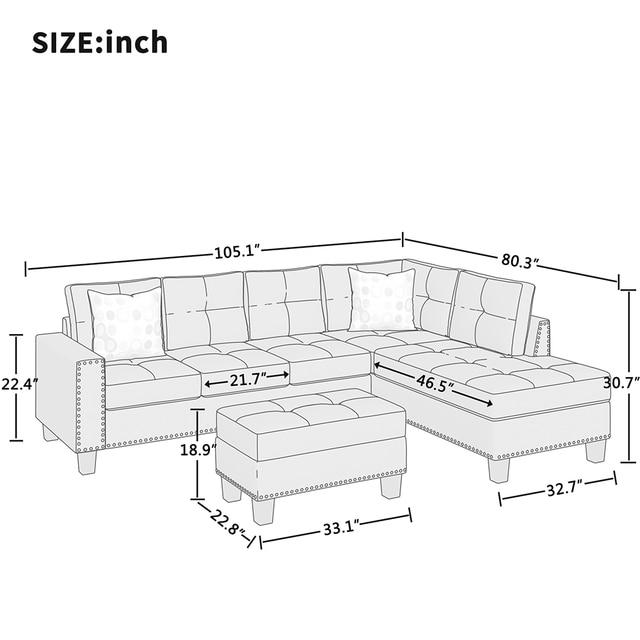 L Style Sofa Furniture 4