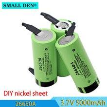 Batterie au lithium 3.7V 26650A 5000mAh + feuille de nickel 20a à monter soi-même, équipement à haute puissance, véhicules électriques, lampes de poche