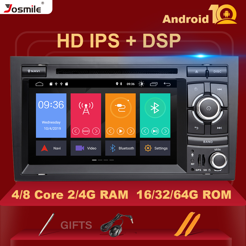 DSP Car <font><b>Multimedia</b></font> Player GPS Android 10 DVD Automotivo For <font><b>Audi</b></font> <font><b>A4</b></font> B8 <font><b>B6</b></font> B7 S4 B7 <font><b>B6</b></font> RS4 B7 SEAT Exeo Quad Core RAM 4G HD IPS image