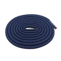 Coolstring redondo de 5mm poliéster personalizado los cordones de los zapatos verde, azul marino cordones de zapatos a la moda Extra largos Unisex los hombres de las mujeres zapatillas de deporte finos