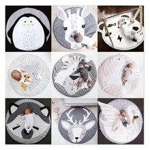 Серия животных, детский коврик для ползания, высокое качество, европейский и американский детский игровой коврик, Детский круглый игрушечный коврик для ползания