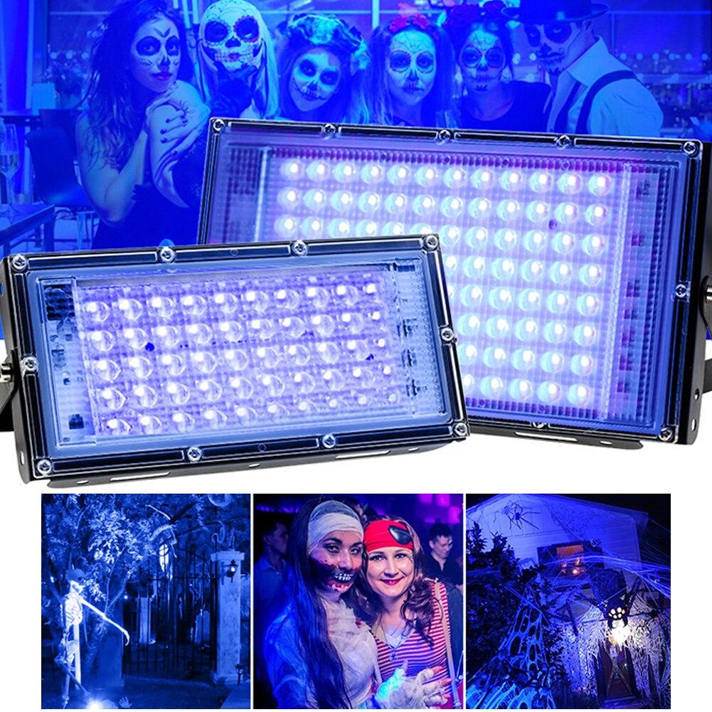 УФ прожектор светильник флуоресцентные лампы 50W UV леча вечерние этап черный светильник для вечеринок для отверждения клея 395nm Хэллоуин свет...