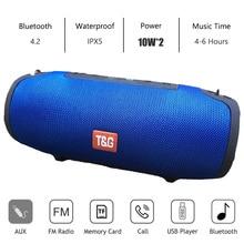 سمّاعات بلوتوث عمود لاسلكيّ قابل للنقل صندوق الصوت 20 واط مضخم صوت ستيريو fm راديو boombox usb صندوق الصوت pc مكبر صوت caixa de so