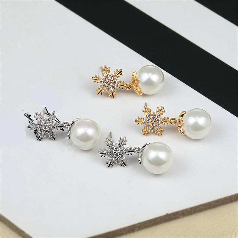 Snowflake Women Dangler Earrings CLOVER JEWELLERY