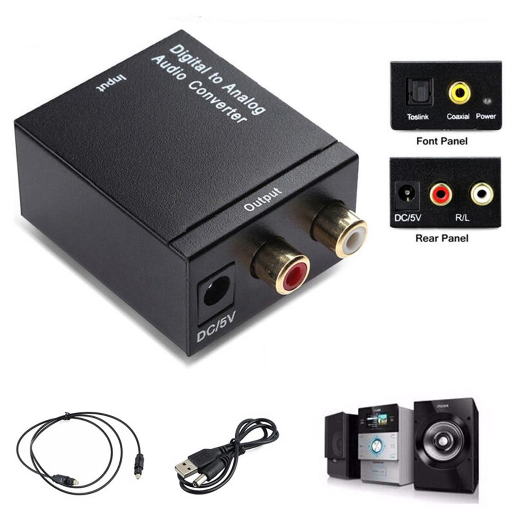 3.5mm coaxial toslink áudio para rca l/r áudio digital para conversor de áudio analógico adaptador de áudio doméstico sistema de cinema em casa áudio