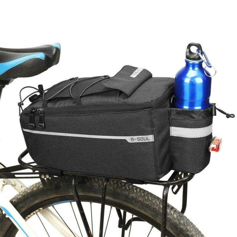 8L Cycling Bicycle Bike Rear Seat Rack Storage Trunk Bag Pounch Handbag Pannier