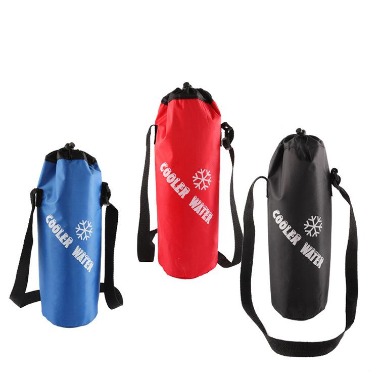 Outdoor Universal Drawstring Water Bottle Pouch High Capacity Insulated Cooler Bag For Traveling Camping Hiking 3 Color Optional