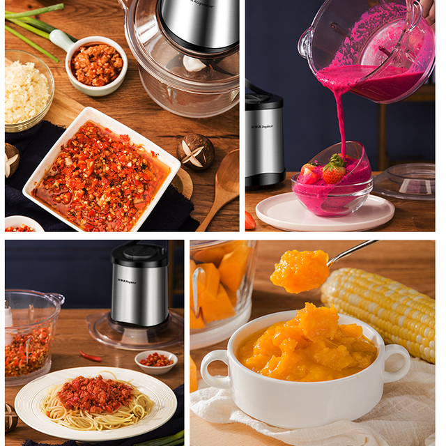 Automatic Stainless Steel Meat Grinder Multifunction Powerful Mincer Food Processor Electric Chopper Cocina Kitchen Tool MM60JRJ 4