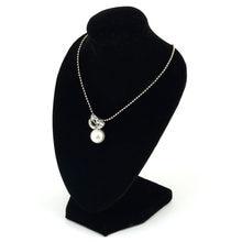 Czarny manekin Velvet Bracklet naszyjnik łańcuszek z wisiorem stojak wystawowy na biżuterię uchwyt udekoruj bransoletka Organizer biżuterii 15*10cm