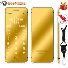"""ULCOOL V66 Plus telefon komórkowy 1.67 """"Super Mini ultracienki karty luksusowe MP3 Bluetooth pyłoszczelna, odporna na wstrząsy telefon"""