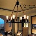 Лофт американский пасторальный Железный канат люстра бар ретро спальня гостиная лампа Скандинавская одежда deco chambre