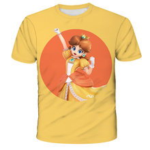 T-shirt Super Mario theme boy girl T-shirt summer clothing printing T-shirt