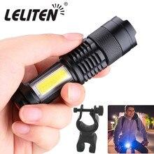 USB נטענת אופניים אור LED פנס זום לפיד Zoomable פנס קמפינג אופניים מנורה + מובנה עם סוללה