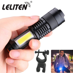 Image 1 - USB Rechargeable bicycle light LED Flashlight ZOOM Torch Zoomable Flashlight Camping Bicycle lamp + With Built in battery