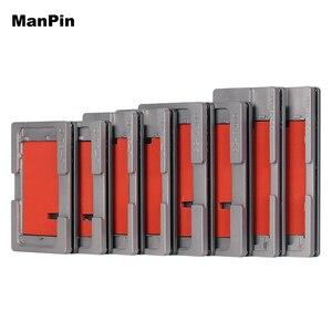 Image 2 - 2in1 สูญญากาศ OCA Laminating Mold NO BEND Flex สายซิลิโคน LCD Alignment Mold สำหรับ iPhone 8 7 6S PLUS ซ่อมเครื่องมือ