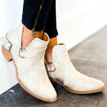 Women boots genuine leather Cossacks women shoes Plus Size ankle boots for shoes woman cowboy boots female kazaki botas mujer