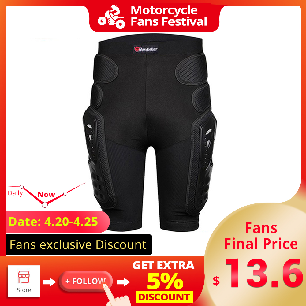 Heavy Duty Body Protective Shorts Motorcycle Bicycle Ski Armour Pants for Men /& Women HEROBIKER Protective Armor Pants