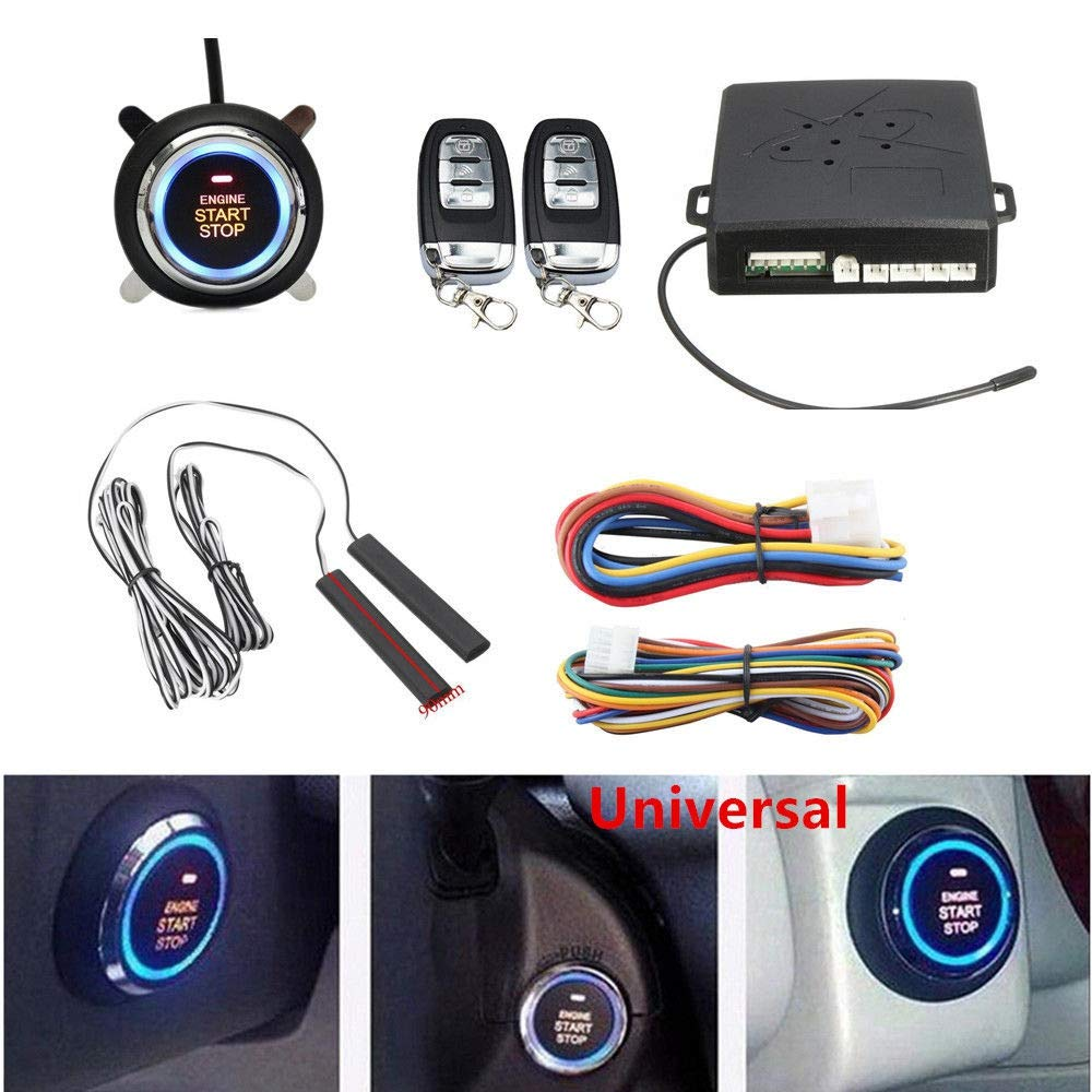 Car Parts Alarm Car Engine Push Start Button Rfid Lock Ignition Starter Keyless Entry Start Stop Immobilizer Anti-Theft System