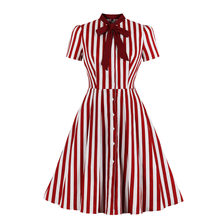 MIXINNI European and American Black Striped Button-Up Vintage Dresses Are Selling Like Hot Cakes 1830