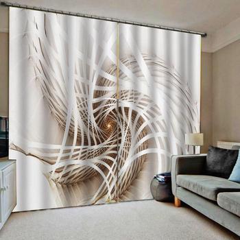 Morden curtains Vortex curtain 3D Curtain Luxury Blackout Window Curtain Living Room
