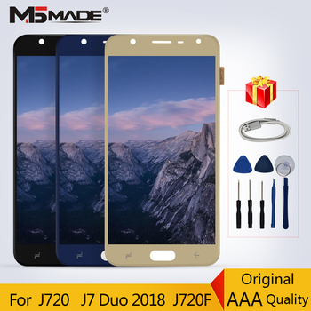J720 100% Original For Samsung Galaxy J7 Duo 2018 J720 J720F LCD Display Touch Screen Digitizer Replacement Parts 100% Tested