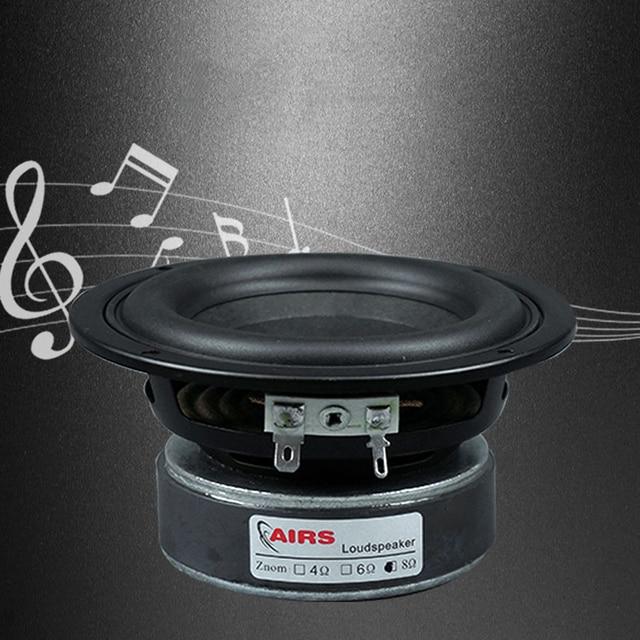 Kaolanhon 4 Inch 100W 4 ~ 8ohm Versterker Luidspreker Diy Home Audio Subwoofer High Power Speaker Ronde Vierkante 65 hz 3500Hz Lange Slag
