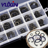 175Pcs/150Pcs Set Black&304 Stainless Steel Clamp Ring GB893 Circlips For A Hole Retaining Ring Bearing Hole Snap Ring Box Kit 4