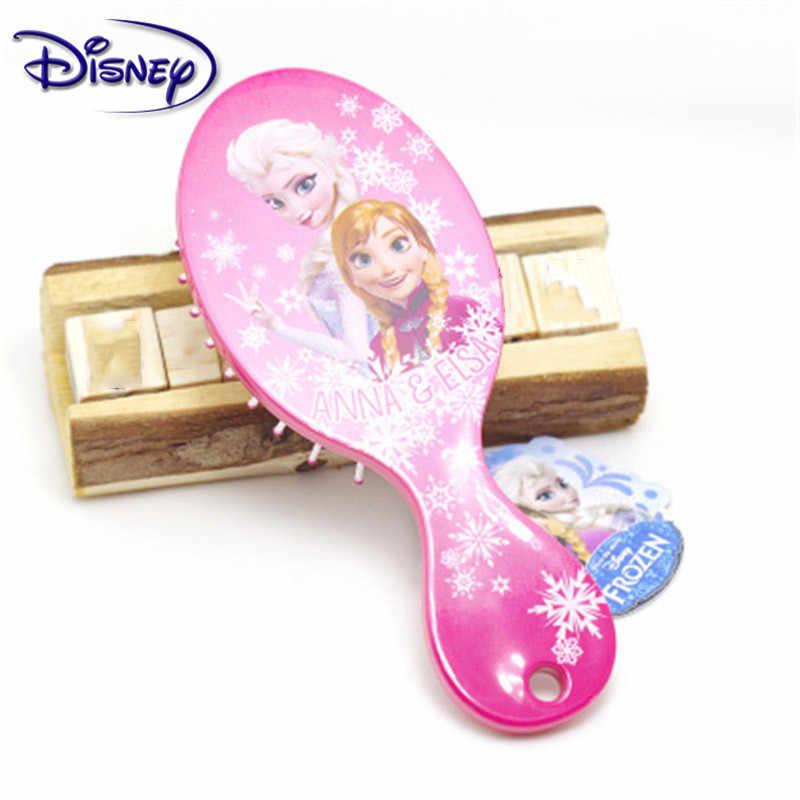 Disney Principessa Congelato Capelli Spazzola Brosse Cheveux Bambini Dolce Anti-Static Brush Groviglio Riccio Sirena Setole Maniglia Groviglio Pettine