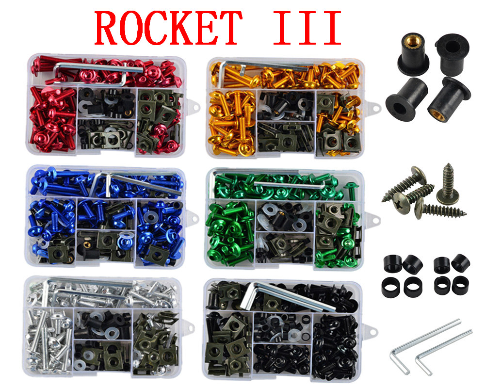 Motorcycle Complete Fairing Bolts Kit Bodywork Screws For Fit   TRIUMPH   ROCKET III   2004-2007