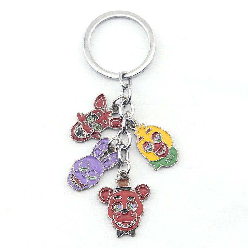 Hot Sale Unisex Keychain Freddy FNAF Anime Fazbear Five Nights Funnty Birthday Gifts Foxy For Kids