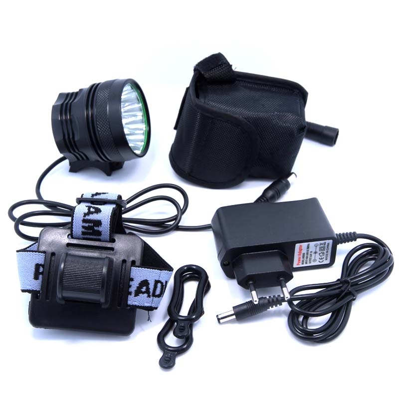2IN1 Headlamp Cycling Bicycle Bike Front Light Headlight 18000LM 15 X XM-L T6 LED Waterproof Lamp