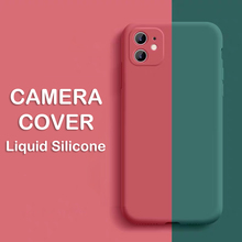 Camera Protection Liquid Silicone Case For Iphone 11 Pro Xs Max Xr X 8 7 6s 6 Plus Soft Full Cover Case For Iphone 5 5s Se Slim