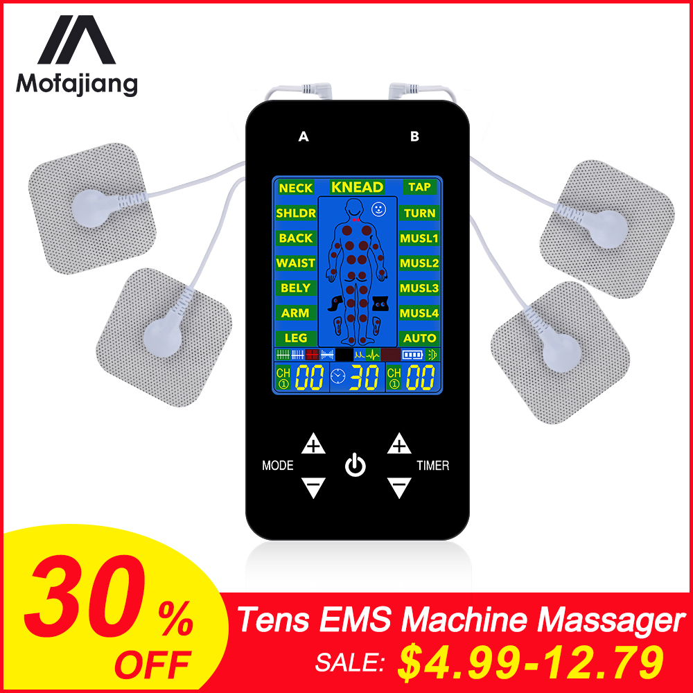 Tens EMS Machine Massager Electronic Pulse Massager Low Frequency Physiotherapy Device Electrical Nerve Muscle Stimulator