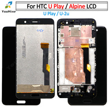 """5.2 """"Với Khung Cho HTC U Chơi Màn Hình Hiển Thị LCD + Tặng Bộ Số Hóa Cảm Ứng Cho HTC U Play U 2u LCD Giá Rẻ vận Chuyển"""