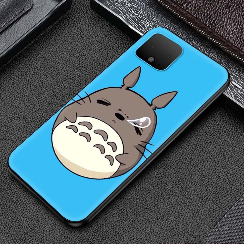 Anime Totoro Soft TPU Phone Case For Google Pixel 4 Fundas Google Pixel 5 4 XL Smart Phone Silicone Cover Coque Shell Capa Caso