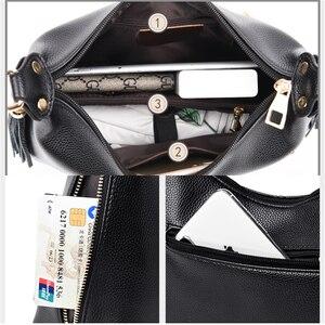 Image 5 - Couro Pequena Hobos Bolsas De Luxo Mulheres Sacos De Designer Bolsas de Alta Qualidade Sacos Crossbody Para Mulheres Bolsa de Ombro Sac A Principal