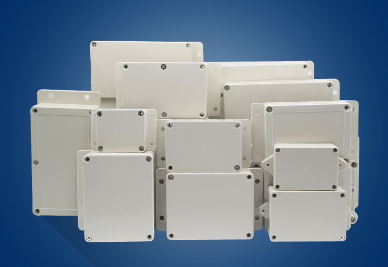waterproof-dustproof-ip65-abs-plastic-junction-box-universal-electrical-project-enclosure-pale-gray-with-fixed-ear-200-120