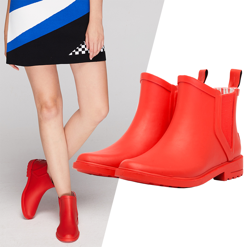 Shoes Woman Boots Women Rubber Boots Ankle Short Boots Rain Boots Women Waterproof Shoes Non-Slip Girls Fashion Rain Footwear