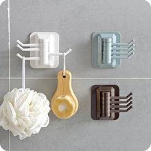 Настенные Пластиковые Вращающиеся крючки 4 в 1 для ванной и