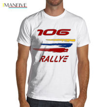 2019 Summer Style Men Tee Shirt france car  106 Rally Racings Soft Cotton T-Shirt WRC Gti