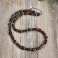New natural stone bead necklace 316 men and women do not show steel accessories natural tiger eye stone fashion jewelry