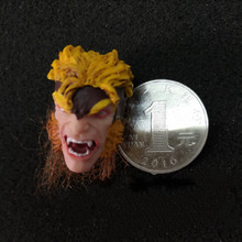 цена на 1/12 Sun Wukong Monkey King Head Carved Toy Model for 6inch SH Action Figure Toys Jouerney   to the West