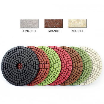 7pcs 4 Inch Diamond Polishing Pads Kit 50-3000 Grit For Granite Stone Concrete Wheels 100mm Wet Grinding Discs Set - discount item  30% OFF Power Tools