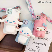3D Melody Korean Bear Totoro Wallet Phone Case For iPhone SF