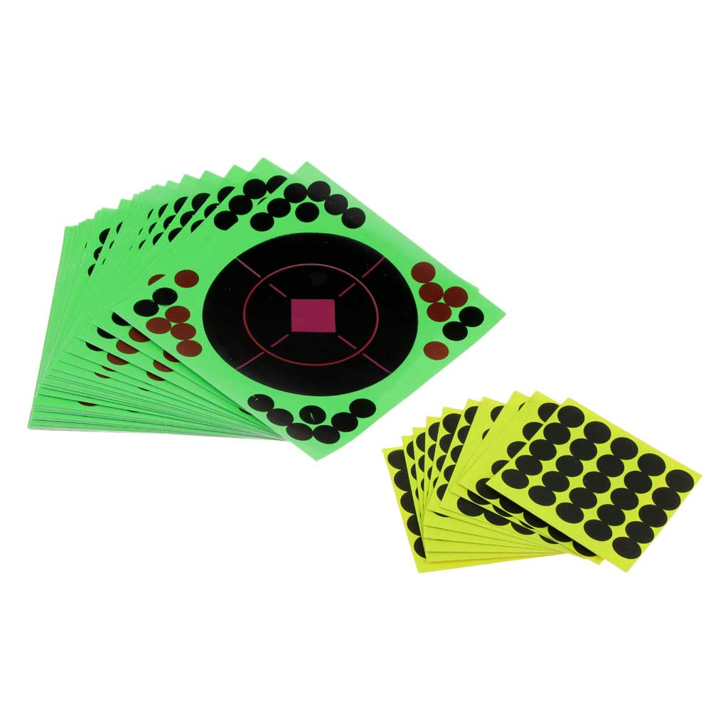 25pcs Archery Shooting Targets Reactive Splatter Adhesive 14x14cm Paper Target Sticker With Patches