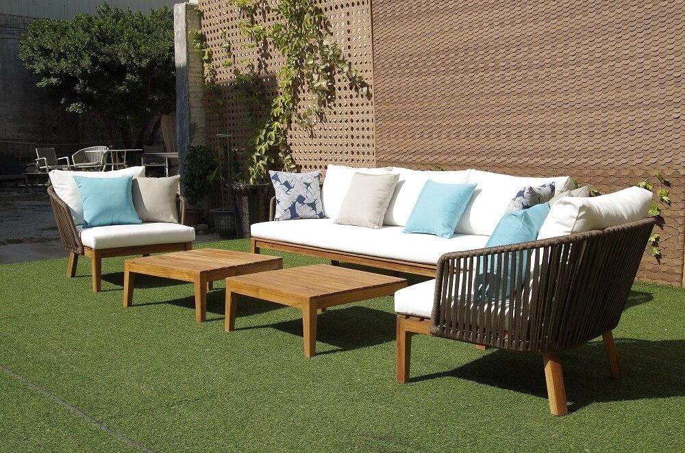 Garden-Furniture Table Outdoor Sofa Wood with Teak