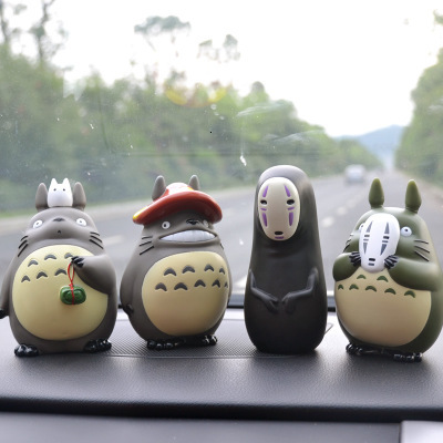 6 Styles Decorative Spirited Away My Neighbor Totoro Toys For Children Studio Ghibli Cute Decor For Car Desktop Potted Plants
