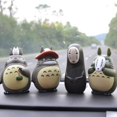 6 стилей декоративные Унесенные призраками игрушки Мой сосед Тоторо для детской студии Ghibli милый Декор для автомобиля Настольные горшечные растения