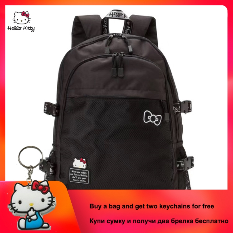 2019 New HELLO KITTY Simple Printing Backpack Fashion Casual Cartoon School Bag Multi-functional Student Bag For Young Girl