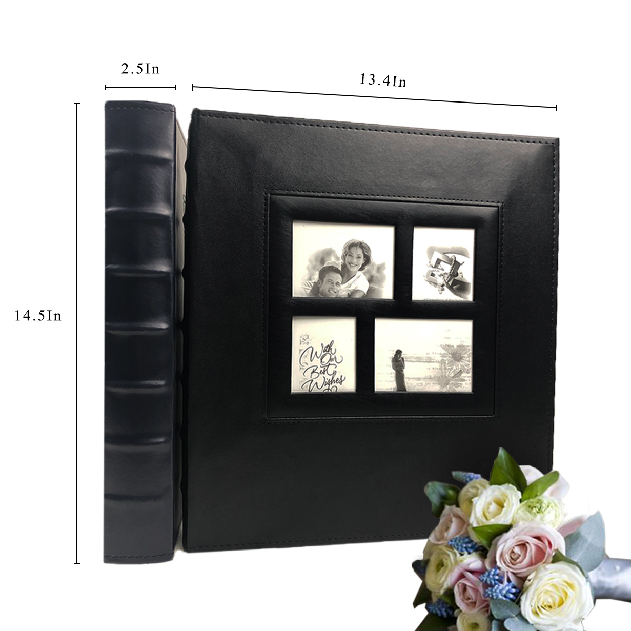 Recutms Photo Album 4x6 600 Photos Black Pages Large Capacity Leather Cover Wedding Family Photo Albums Holds 600 Horizontal Photo Albums Aliexpress